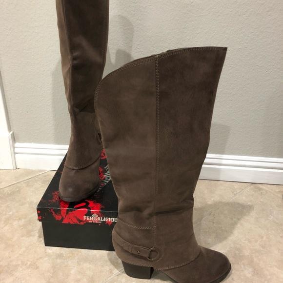ec4f90ad61d Fergalicious Shoes - New! Fergalicous tan brown WIDE calf boots size 9